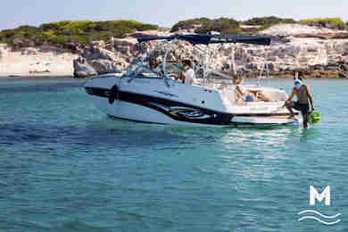 Charter motorboat Rinker Captiva 282 in Ibiza city - Ibiza (Balearic Islands)