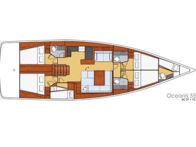 Hire sailboat Oceanis 55 in Sant Antoni de Portmany - Ibiza (Balearic Islands)