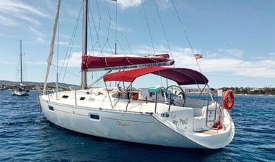 Rental sailboat Oceanis 351 Clipper in Sant Antoni de Portmany - Ibiza (Balearic Islands)