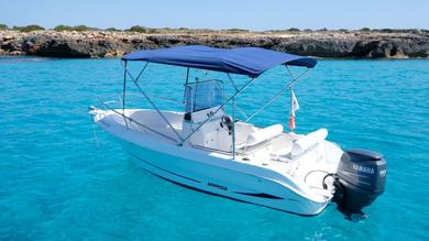 Charter motorboat JANMOR 530 OPEN in Cala'n Bosch - Minorca (Balearic Islands)