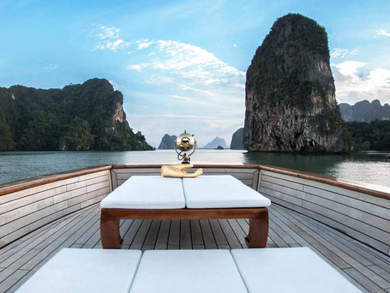 Hire luxury yacht Wooden motor yacht in Phuket city - Phuket