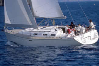 Charter sailboat Dufour 385 in Paros - Cyclades Islands