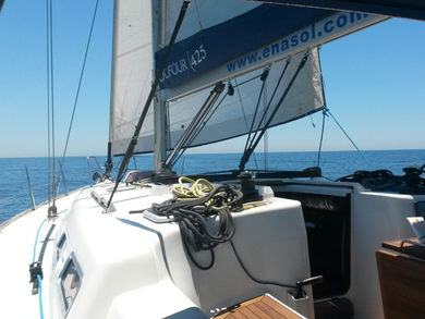 Rental sailboat Dufour 425 GL in Sant Antoni de Portmany - Ibiza (Balearic Islands)